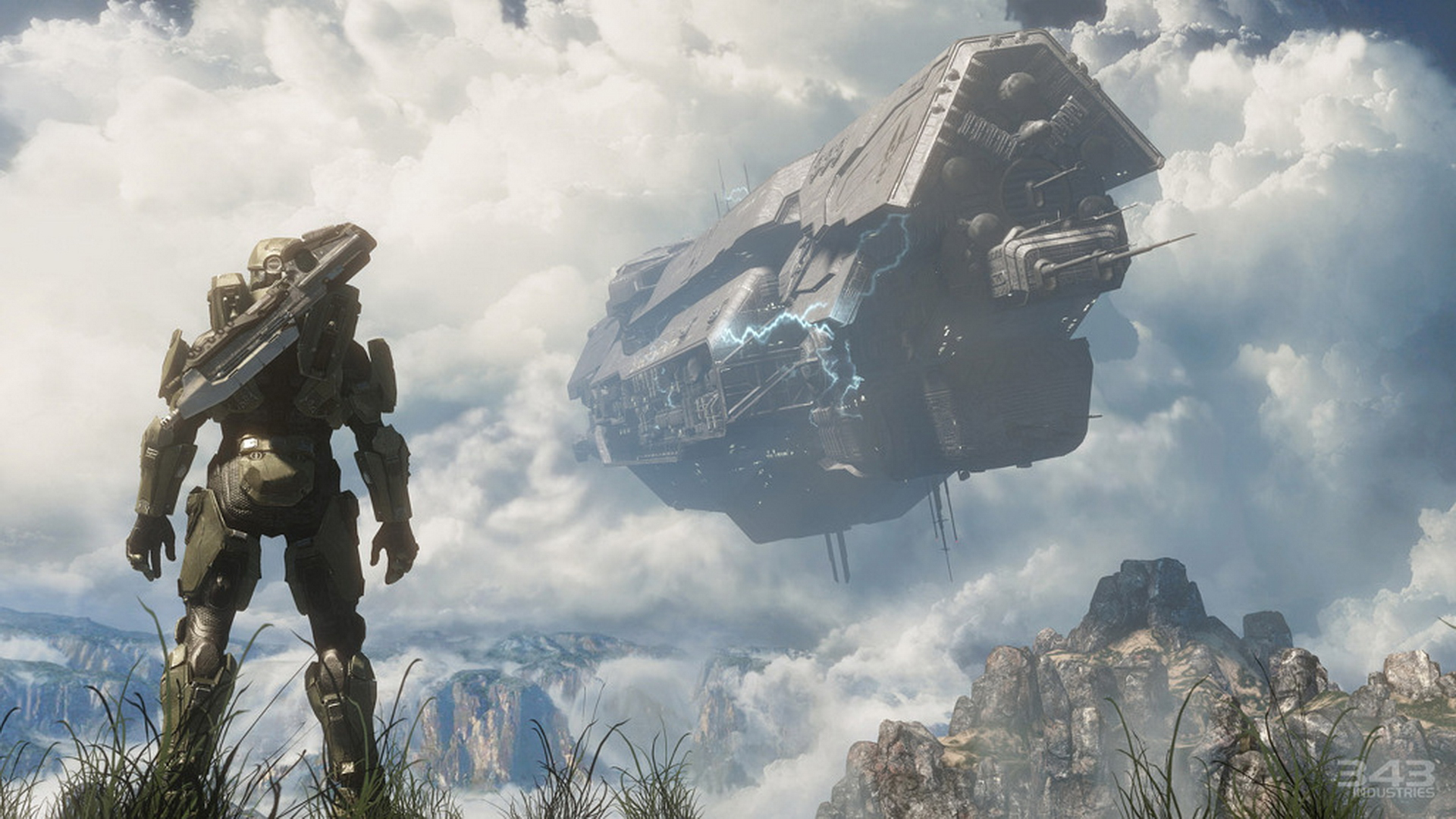 Gaming now halo 4 master chief spartan unsc ship crashing voltagebd Image collections