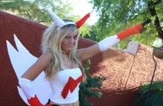 Jessica Nigri Zangoose costume 07