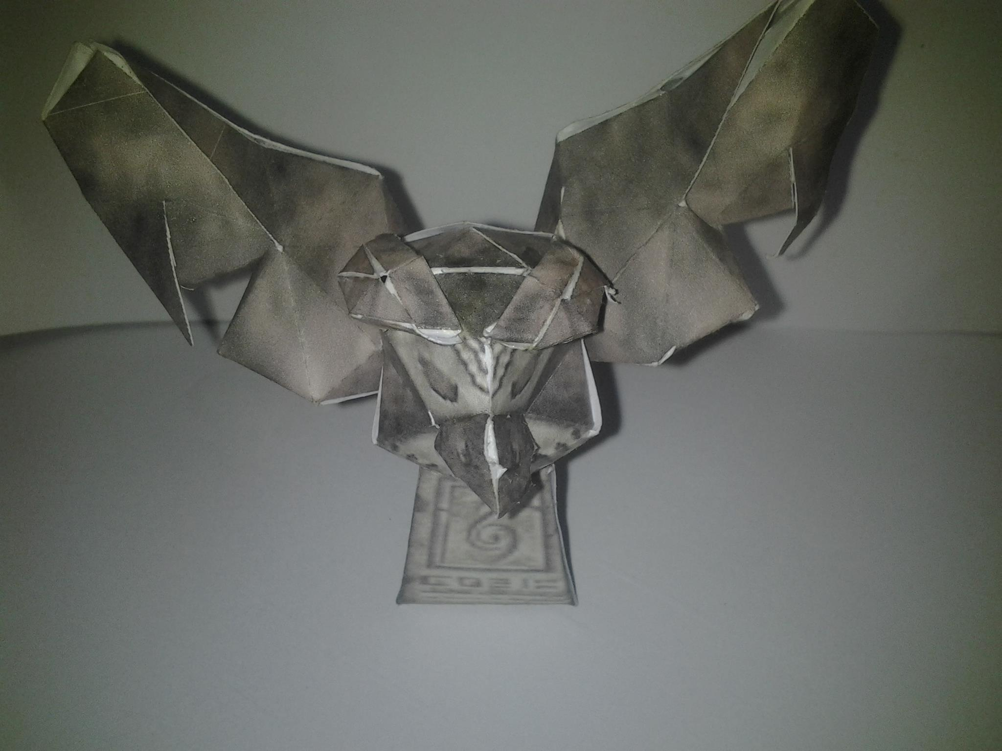 I made the owl statue from majora's mask out of paper