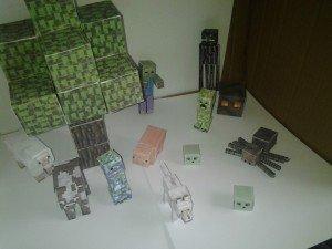 Papercraft Minecraft models