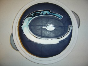 Halo logo on birthday cake