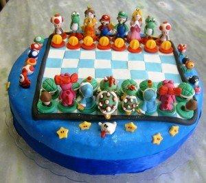 Chess mario cake