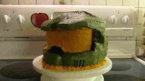 master chief's helmet. cake made by mike