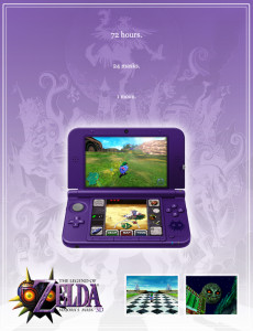 Majora's mask 3d poster advert