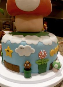 Mario Bros cake - rear view