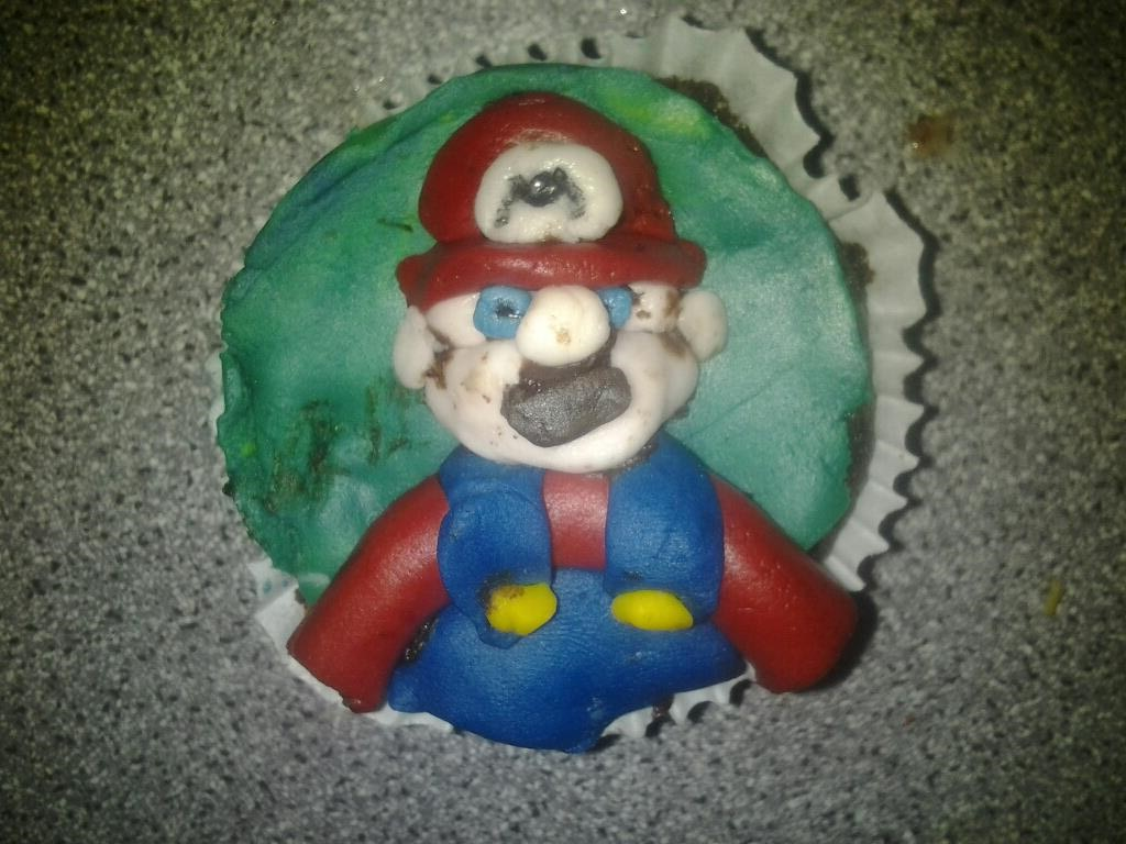Mario decorated cupcake