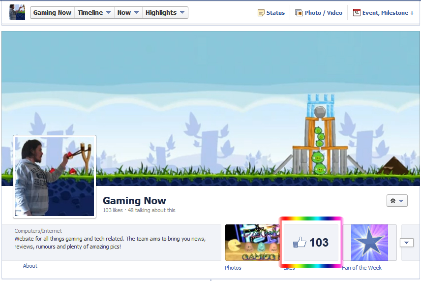 Amazing Facebook Timeline Cover Photo - Angry Birds Design.