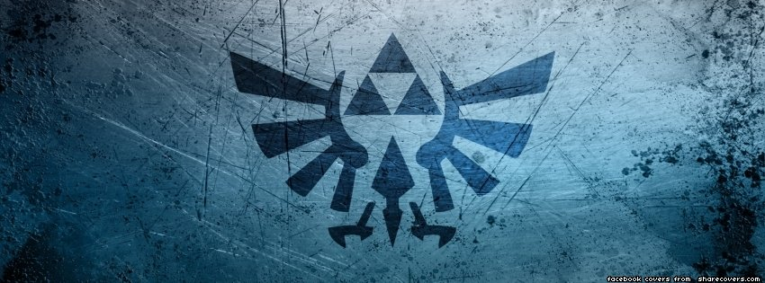 The Legend of Zelda Triforce Hyrule Crest Facebook Timeline Cover Photo
