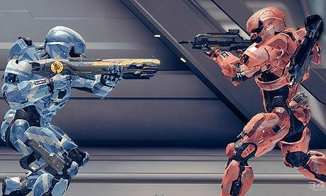 Halo 4 Multiplayer Red V Blue battle - Spartan IV