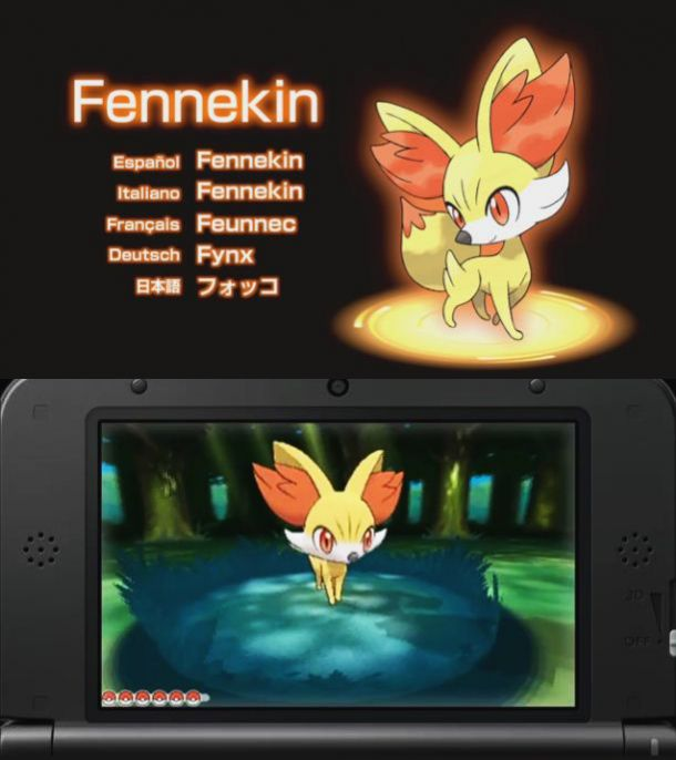 Pokemon X and Y starters fire type Fennekin