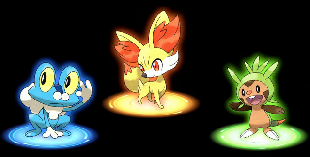 Pokemin X and Y starters