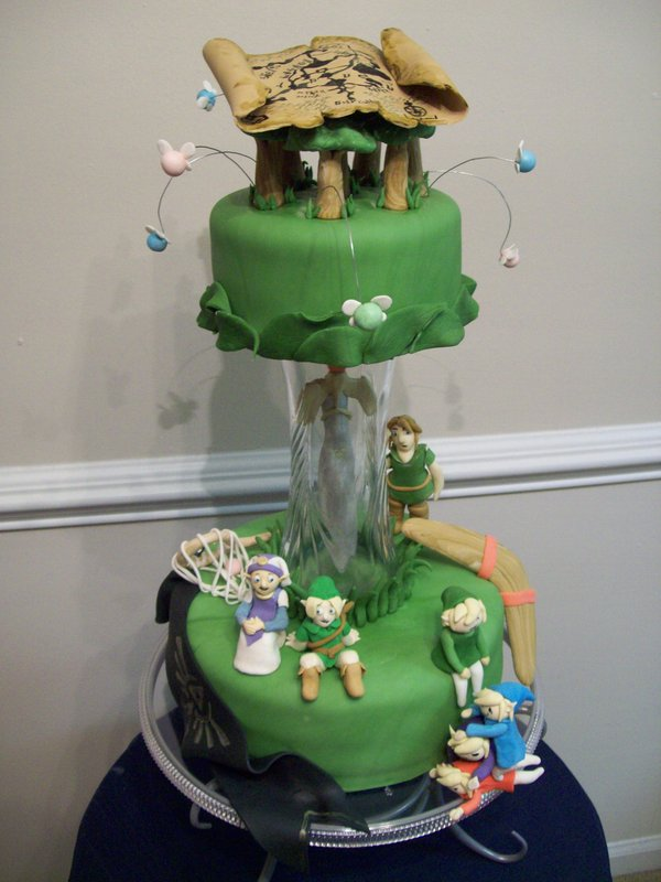 two tier zelda cake