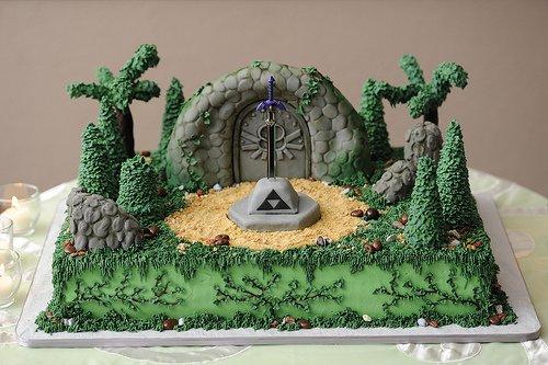 zelda shrine cake