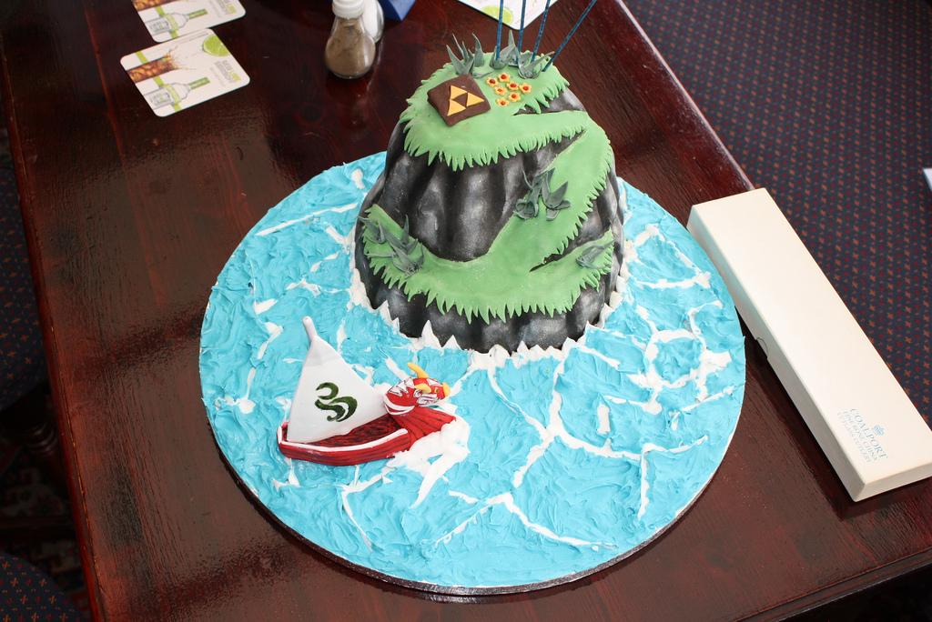zelda windwaker island cake
