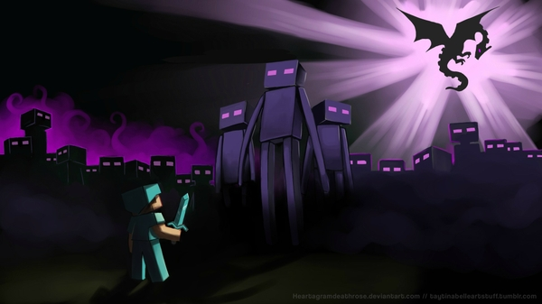 artistic steve minecraft artwork enderman endermen 1920x1080 wallpaper_wallpaperswa.com_57