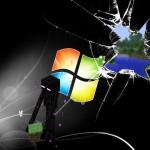 enderman wallpaper smashed windows minecraft
