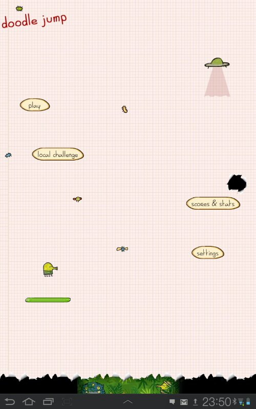 Doodle Jump main menu